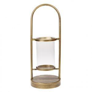 Gouden metalen lantaarn